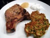 Pork Chops and Zucchini Latkas