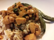 Spicy Thai Basil Chicken, and Sesame Green Beans