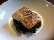 Butter Roasted Salmon, with Sautéed Kale